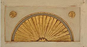 Bremer Sonnenschrank, Stuck, Blattgold