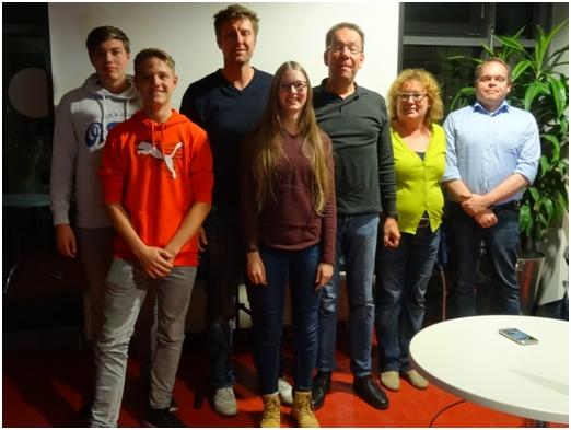 Der neugewählte Aufsichtsrat von links: Finn Häder, TimonVierke, Tobias Fröhlich, Nina Bühn, Kay Jürgens, Ramona Stahl, Lars Witte
