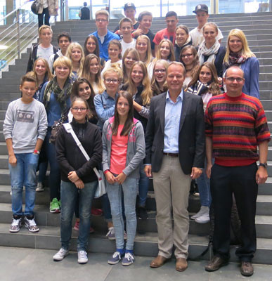 Auch die Klasse von Herrn Richter besuchte den Abgeordneten – Foto: Büro Miersch