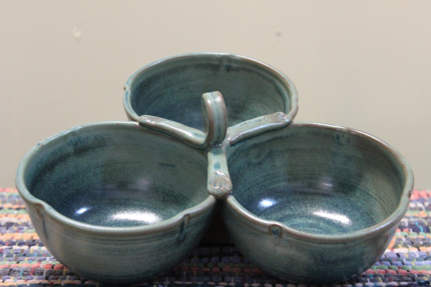 Three Bowl Condiment Holder