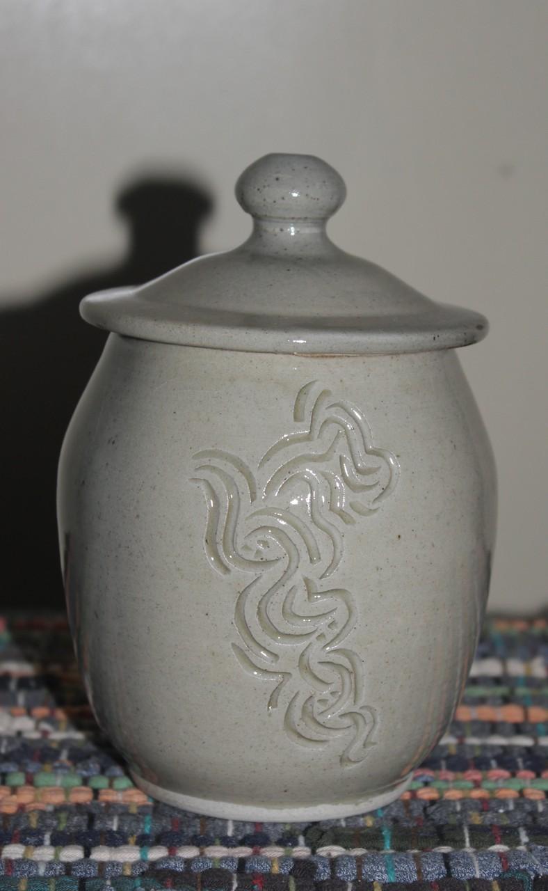 Hand Carved Jar
