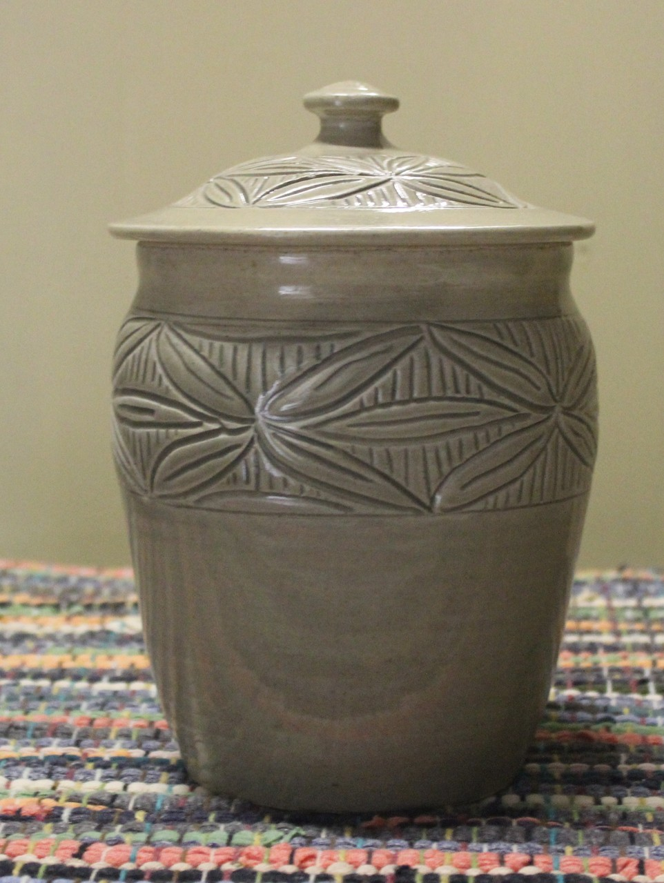 Hand Carved Canister