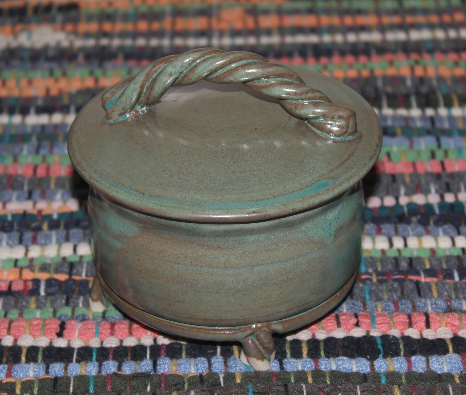 Rope Handled, Footed Candy/Everything Dish