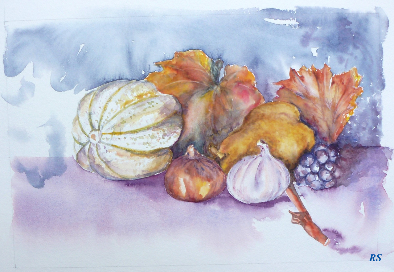 Renée - Fruits - Aquarelle
