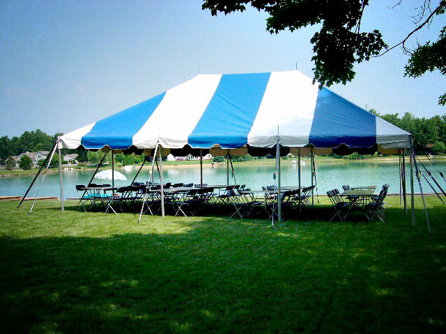 20 x 30 With 8 tables and 64 chairs is the most popular package for graduation parties