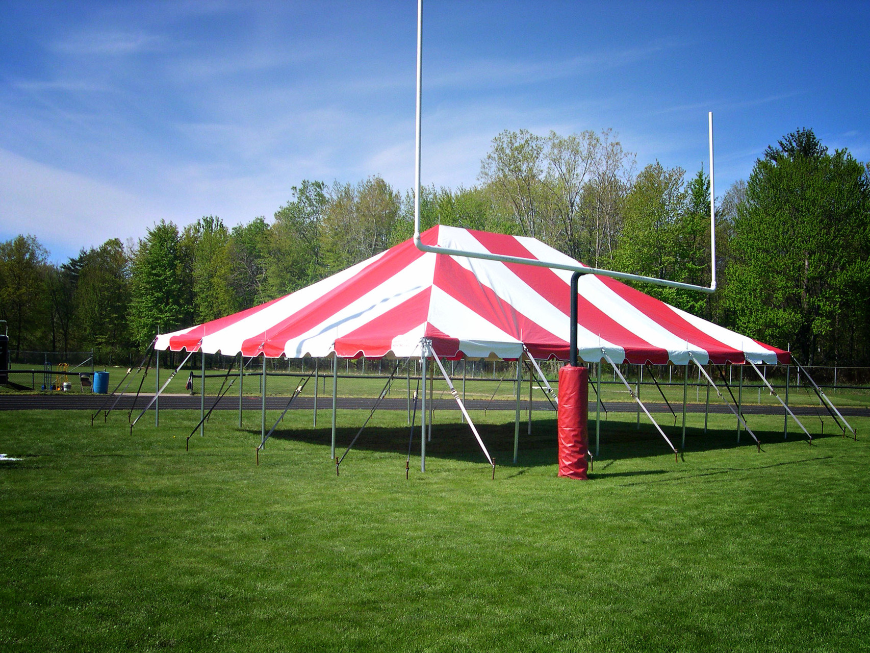 30 x 40 Pole tent St Charles High School Relay for Life