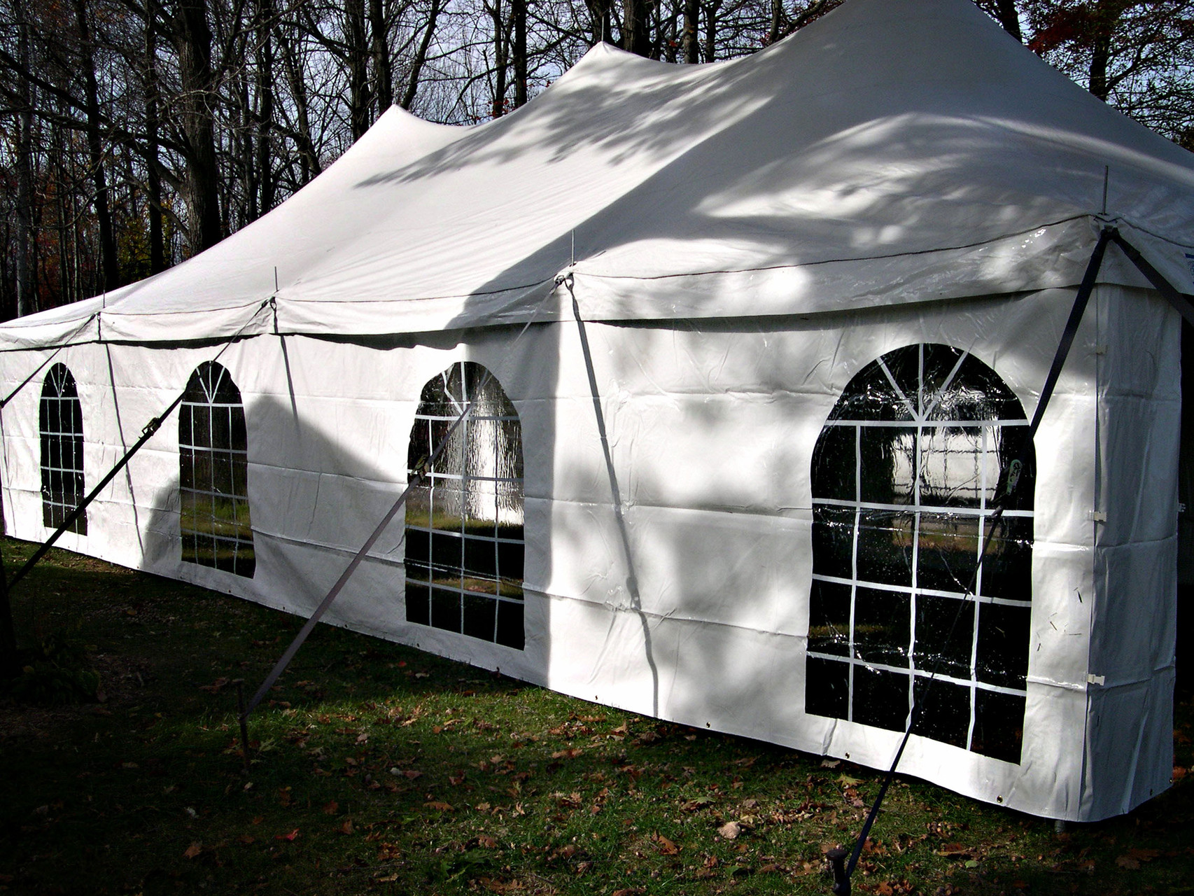 20 x 40 Pole tent with optional window side walls