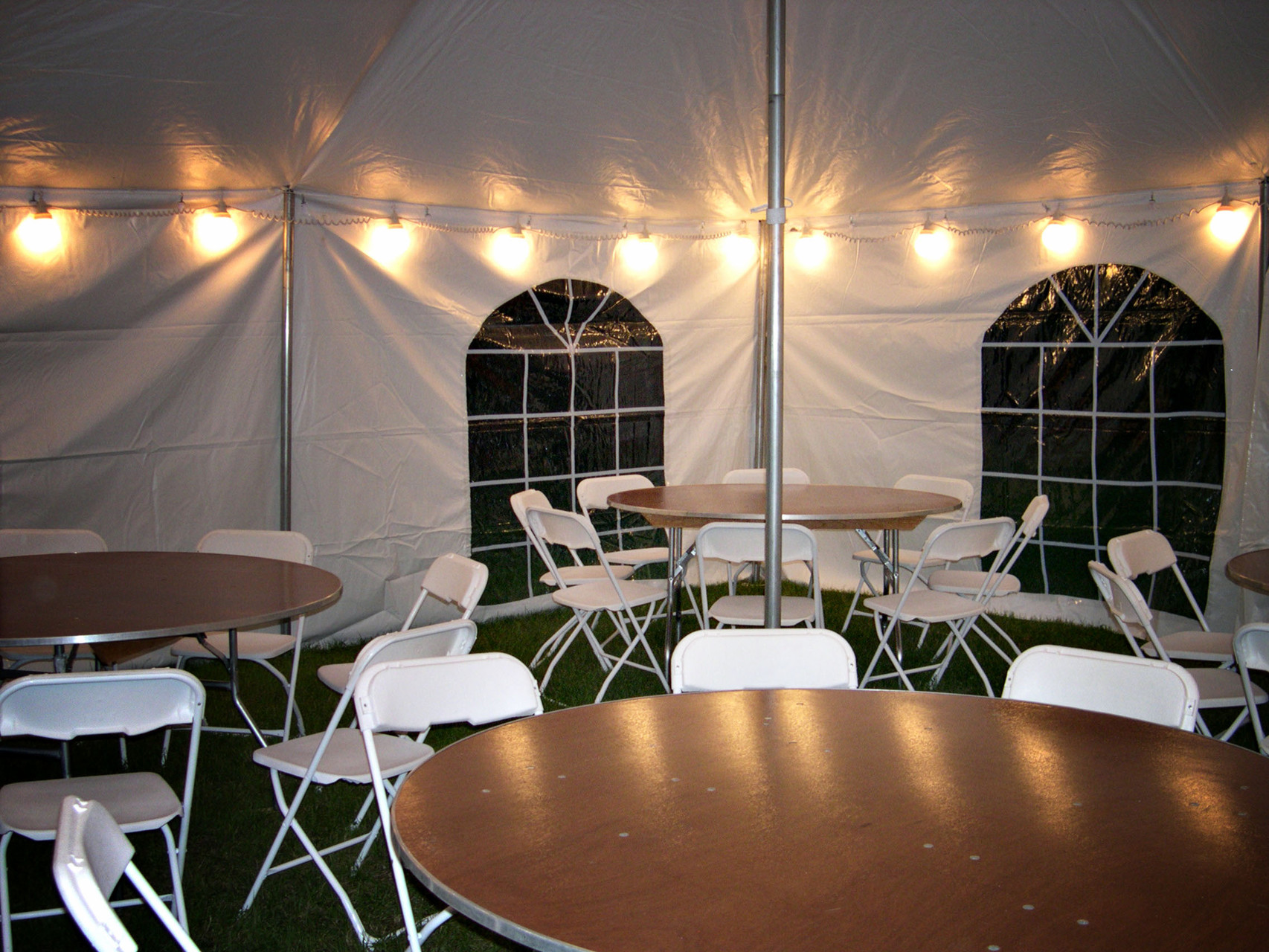 String globe lights & Tent Rental Accessories lights tables - Valley Tent Rental