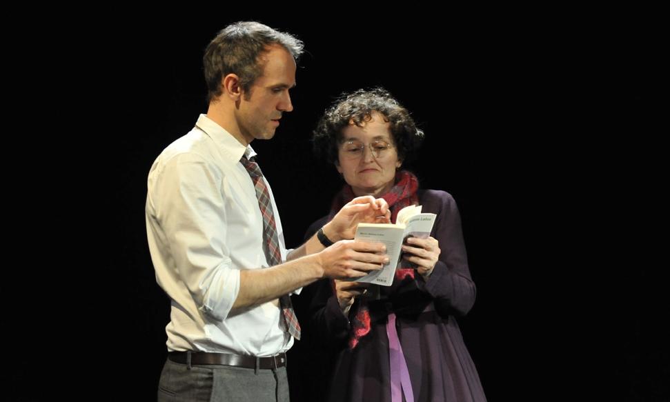 """""""Tête de lecture"""" avec Marie-Hélène LAFON © JC Moireau / cie Tête chercheuse"""