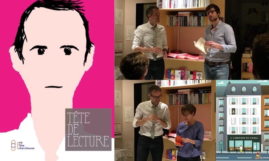 avec François-Henri DESERABLE à la Librairie du Canal (Paris) © cie Tête chercheuse