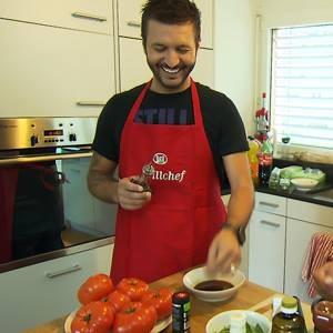 Sir Colin beim kochen