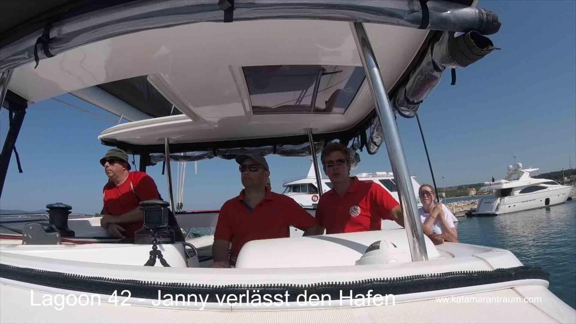Ready for sailing practice catamaran Lagoon 42