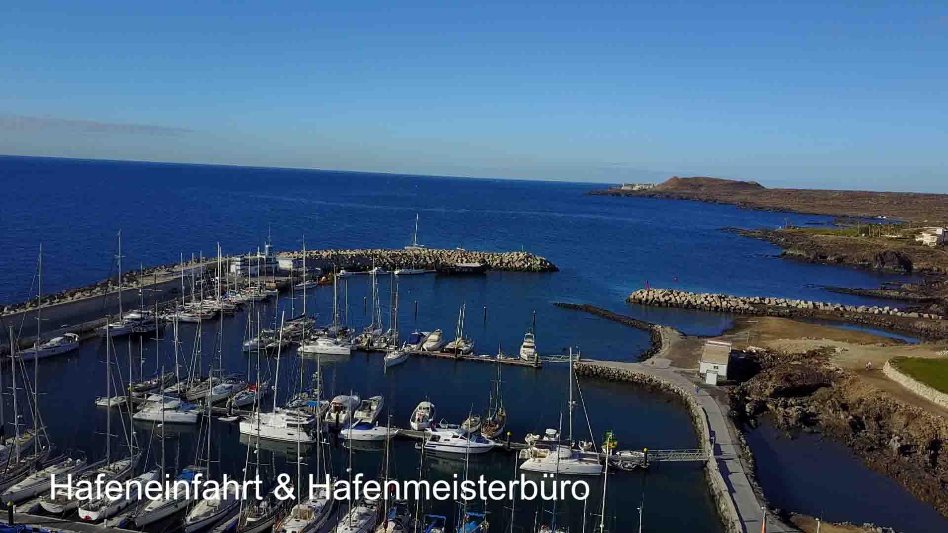 Drohe Lugtaufnahme von Marina Saint Miguel - Teneriffa