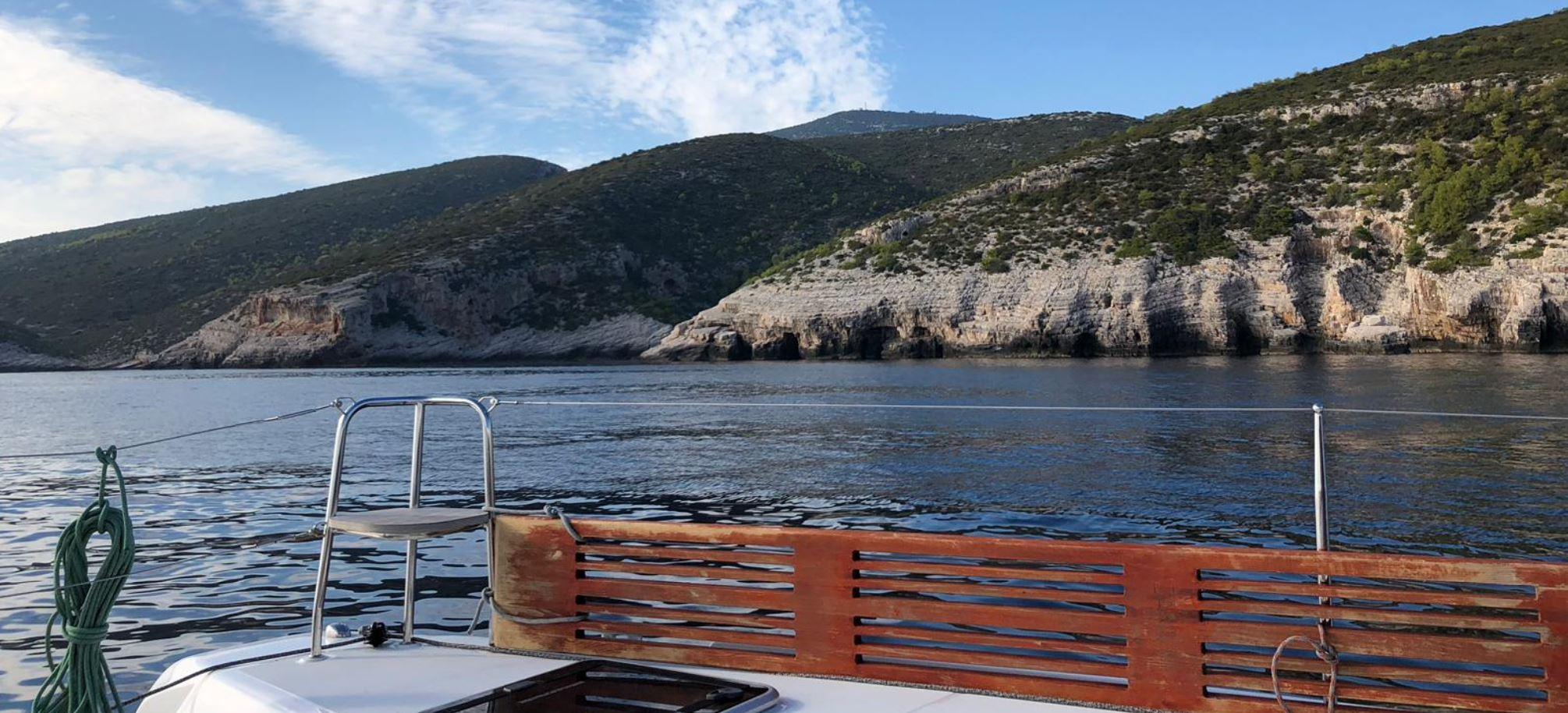 Segelurlaub Anfaht in der nächste Bucht