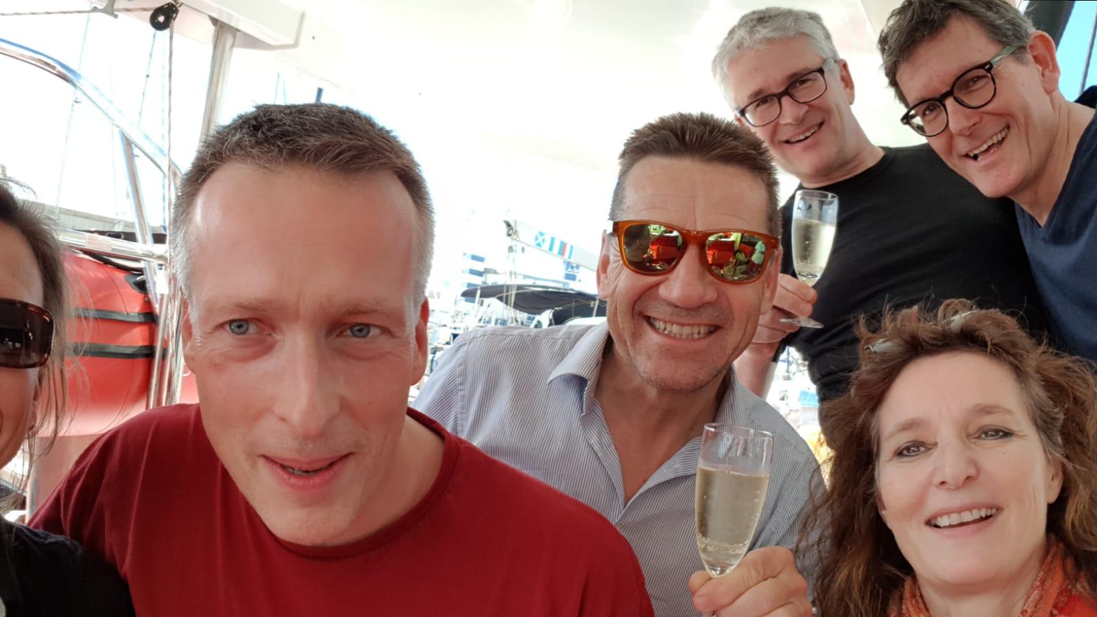 Christoph, Stephan und Charles auf Teneriffa - Katamarantraining Frebruar 2019