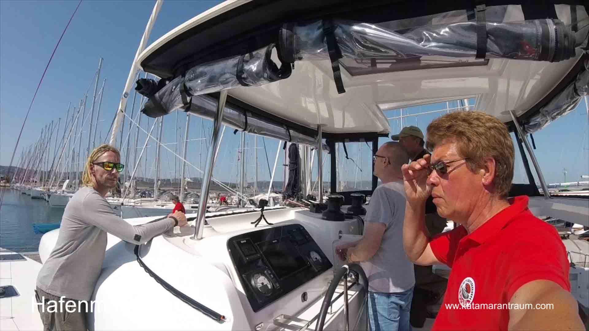 Katamarantraining mit Lagoon 42 JANNY - und Skipper / Eigner Jos Wijtenburg
