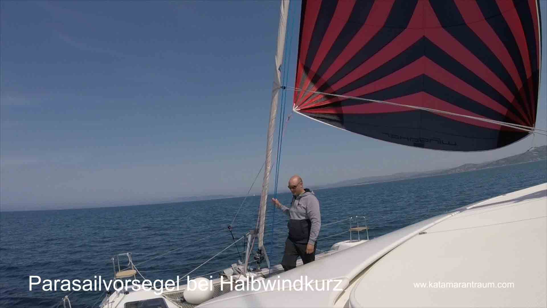 We have pulled over the Wingaker to half wind sailing