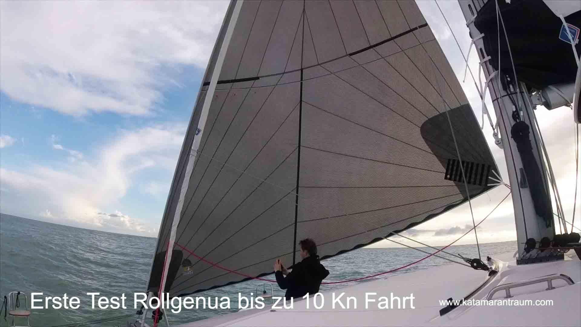 Beim Mitsegeln mit Rollgenua 69 m²