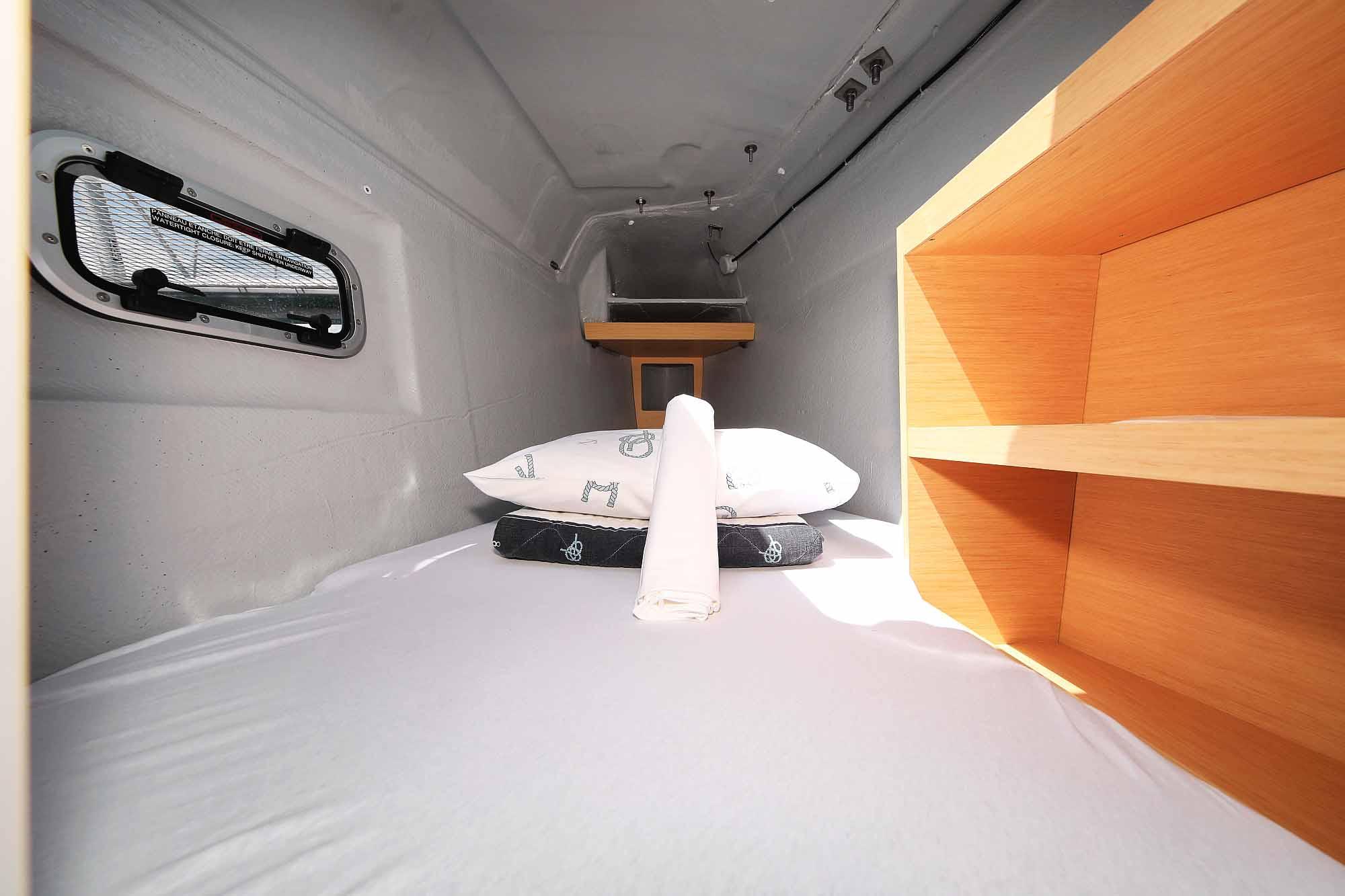 Bugspirtze kabine von Laggon 42 janny