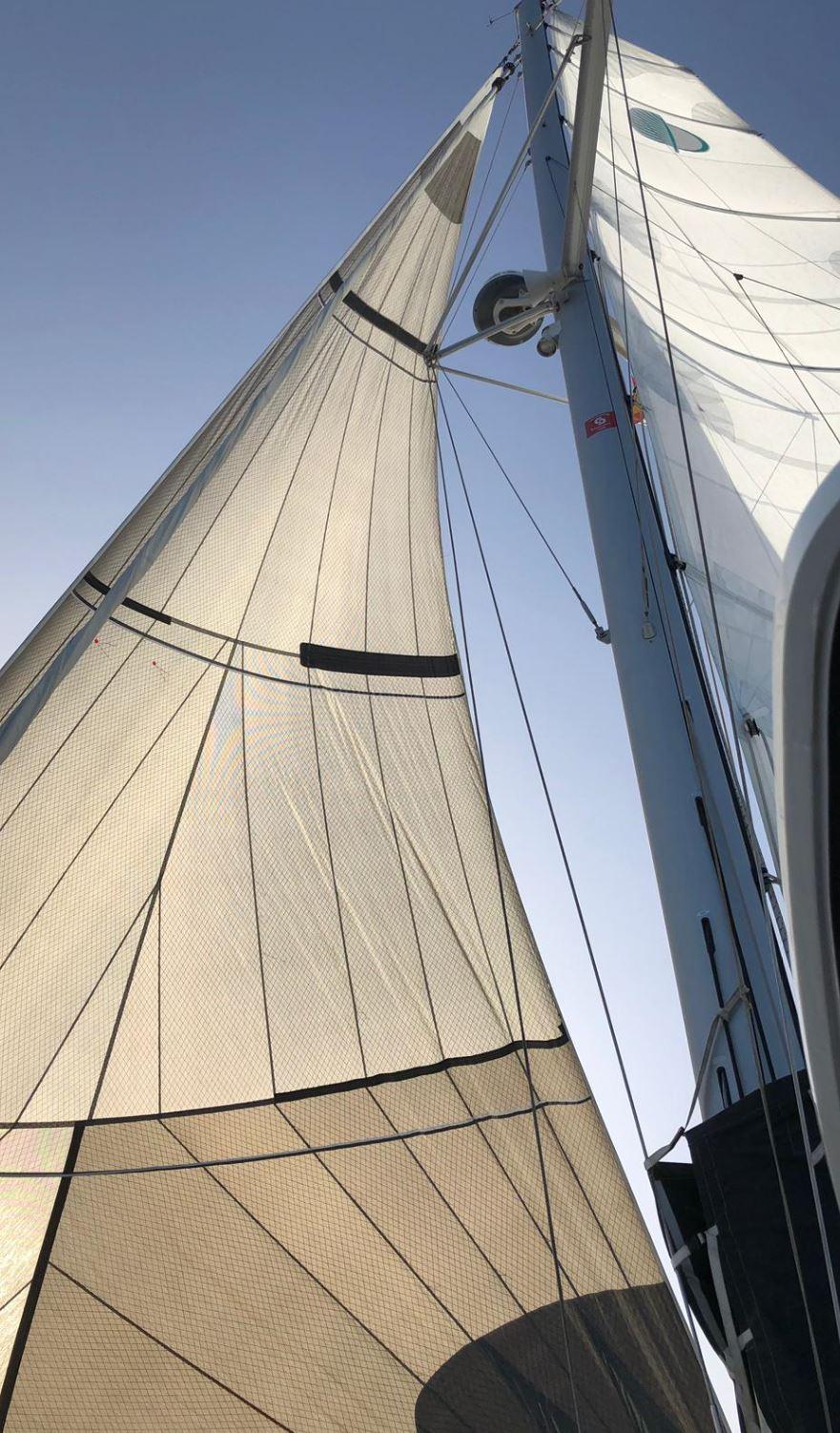 Genau Vorsegel von Yachtchartern Lagoon 42 Janny