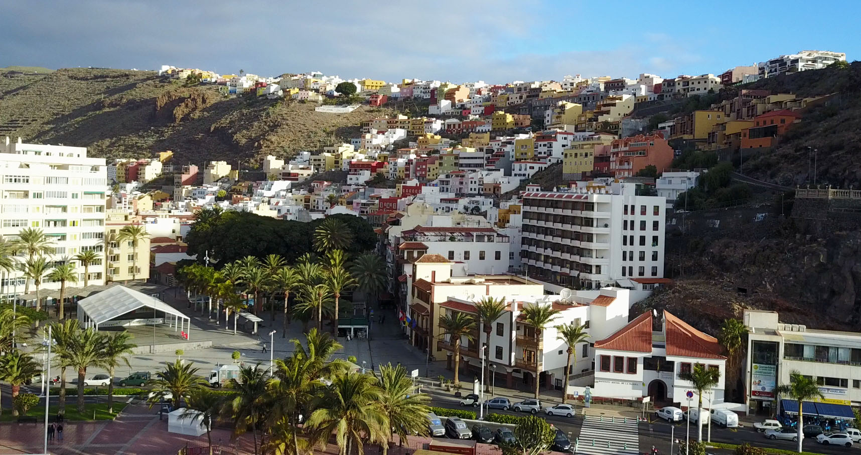 Downtown San Sebastian on la Gomera - sailing vacation