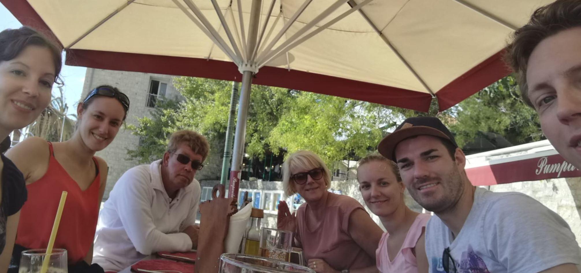Familiensegeln Mittagessen