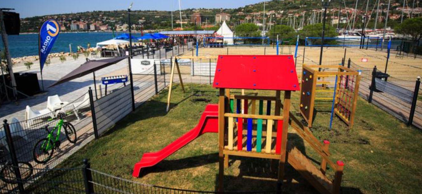 Spielplatz unweit von Marina Portoroz - Slowenien