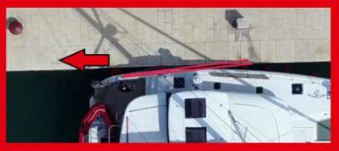 Glossar, Mit Achterspring Katamaran in Position halten, Katamaranübung, Katamaran Glossar, Katamarantraining, Katamaran Manöver Training, Hafenmanöver Training, Skipper Katamarantraining