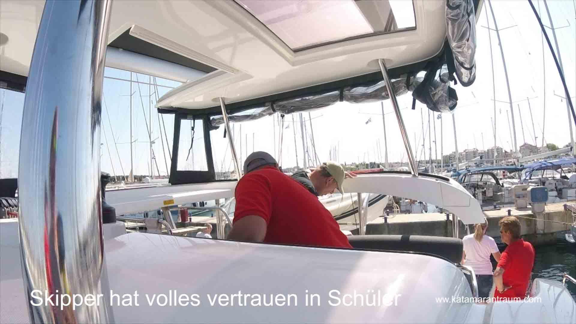 Full concentration on docking maneuver