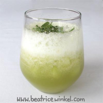 vegane Melonen-Birnen-Bowle