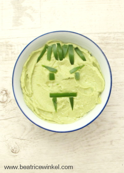 Avocado Hummus in green