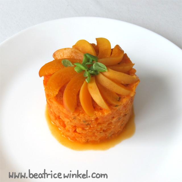 Gemüseturm in orange