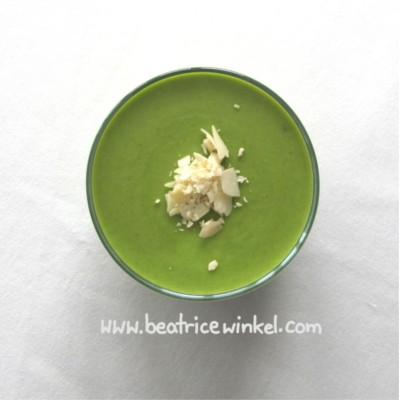vegan Pea Mint Chocolate Cream