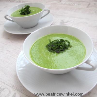 vegane Erbsen-Paprika-Suppe
