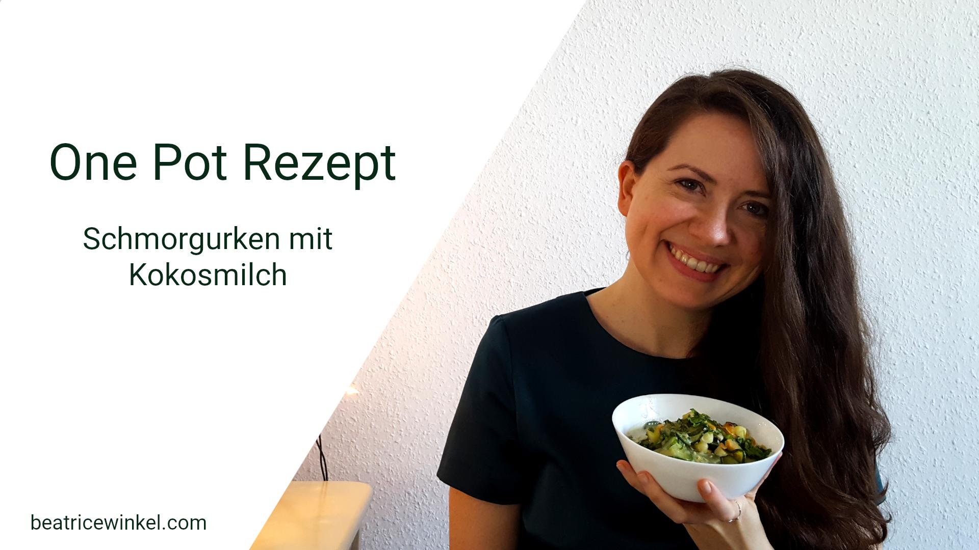 One Pot Rezept | Schmorgurken mit Kokosmilch