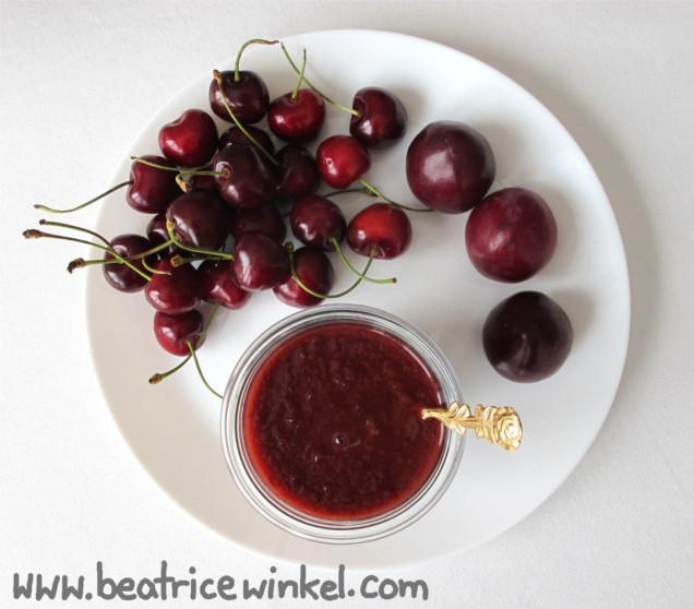 Kirsch-Pflaumen-Ketchup