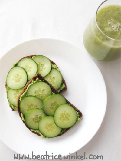 veganes Grünes Frühstück