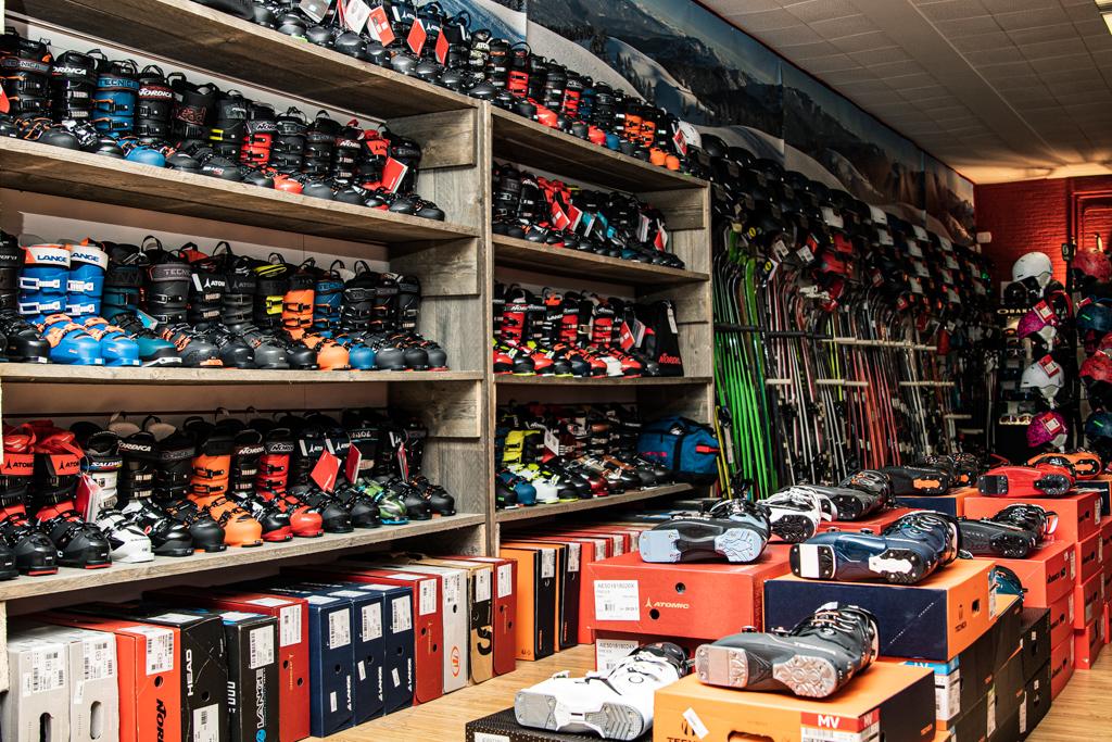 foto skiboots ski's