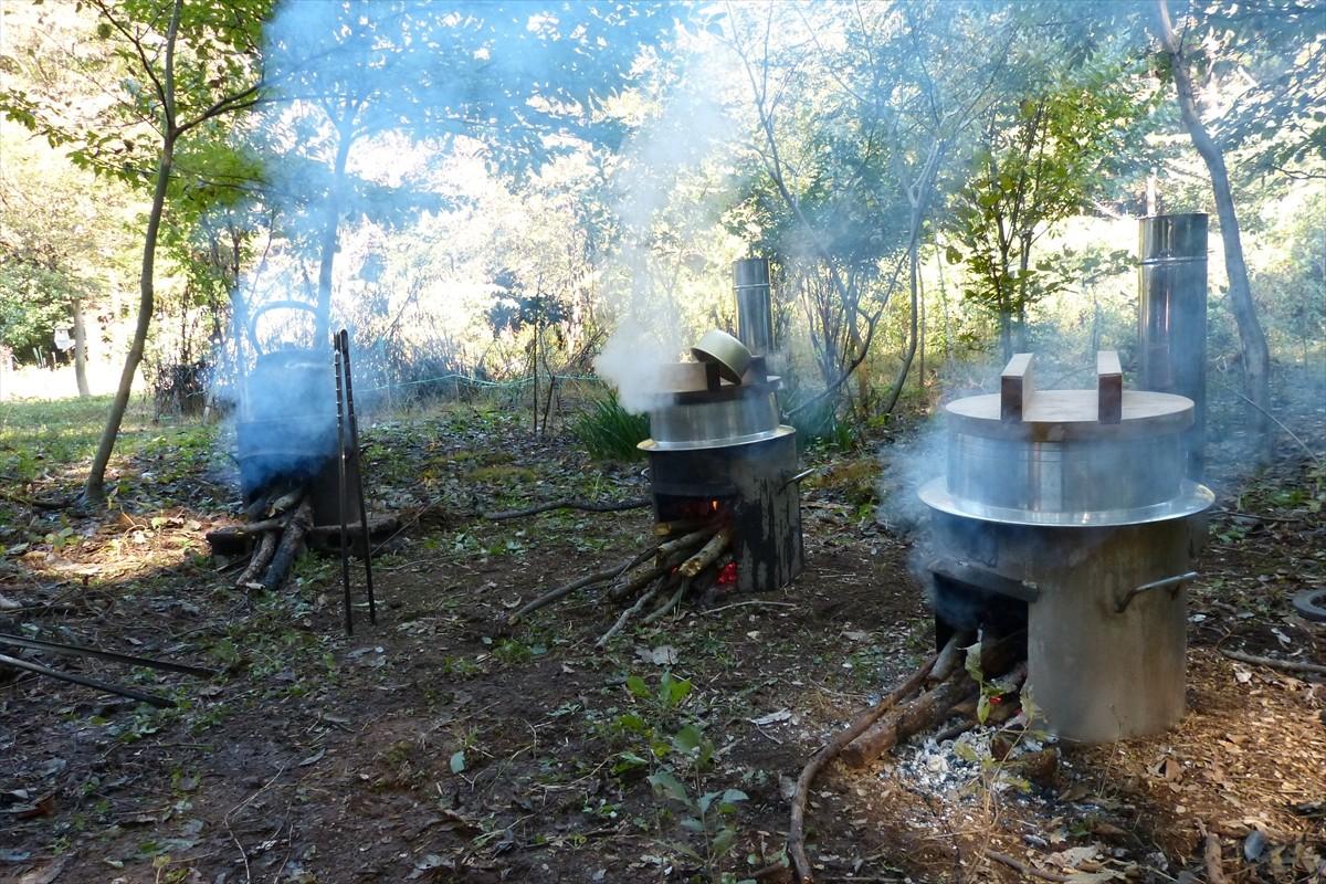 芋煮が出来上がりつつあります