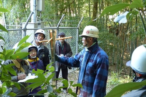 竹の割り方を学ぶ