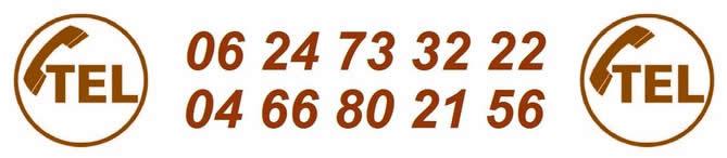 Coordonnées téléphoniques du peintre Caveirac.