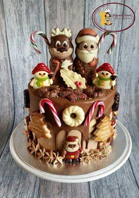 Drip cake kerst