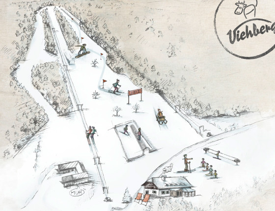 Pohlednice spanoramatickým vyobrazením Viehbergu