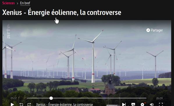 Intéressante émission d'Arte (Xenius) sur les éoliennes en Allemagne