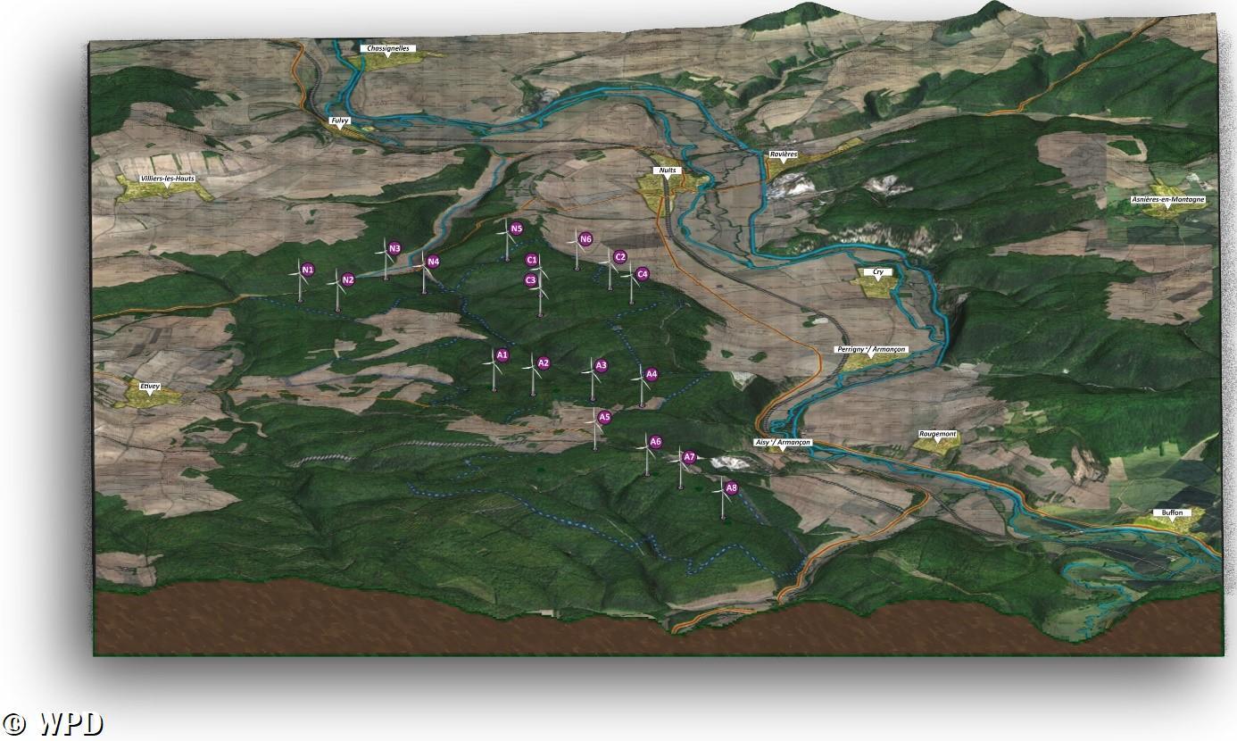 Réponse au tract relatif au projet éolien des Hauts de l'Armançon distribué par WPD