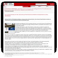 """Grafik: Webscreen PortalDerWirtschaft - Pressemitteilung """"HCH Der HafenCity-Makler GmbH schneidet ab als einer der am besten bewerteten Hamburger Makler beim Immobilienmakler-Vergleich des renommierten Verbraucher-Portals CHIP"""""""