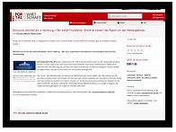 """Grafik: Webscreen PortalDerWirtschaft - Pressemitteilung """"Exklusive Immobilien in Hamburg – Der HafenCity-Makler GmbH erweitert das Spektrum des Webangebotes"""""""