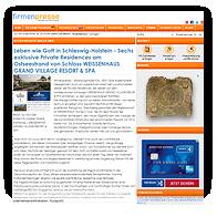 """Grafik: Webscreen FIRMENPRESSE - Pressemitteilung """"HCH Der HafenCity-Makler GmbH rangiert als eins der bestbewerteten Maklerunternehmen in Hamburg bei deutschlandweitem Immobilienmakler-Vergleich des Verbraucher-Portals CHIP"""""""