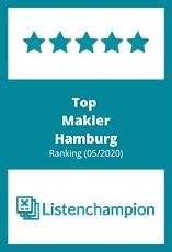 Badge: Top Makler Hamburg Ranking (05/2020) / www.listenchampion.de