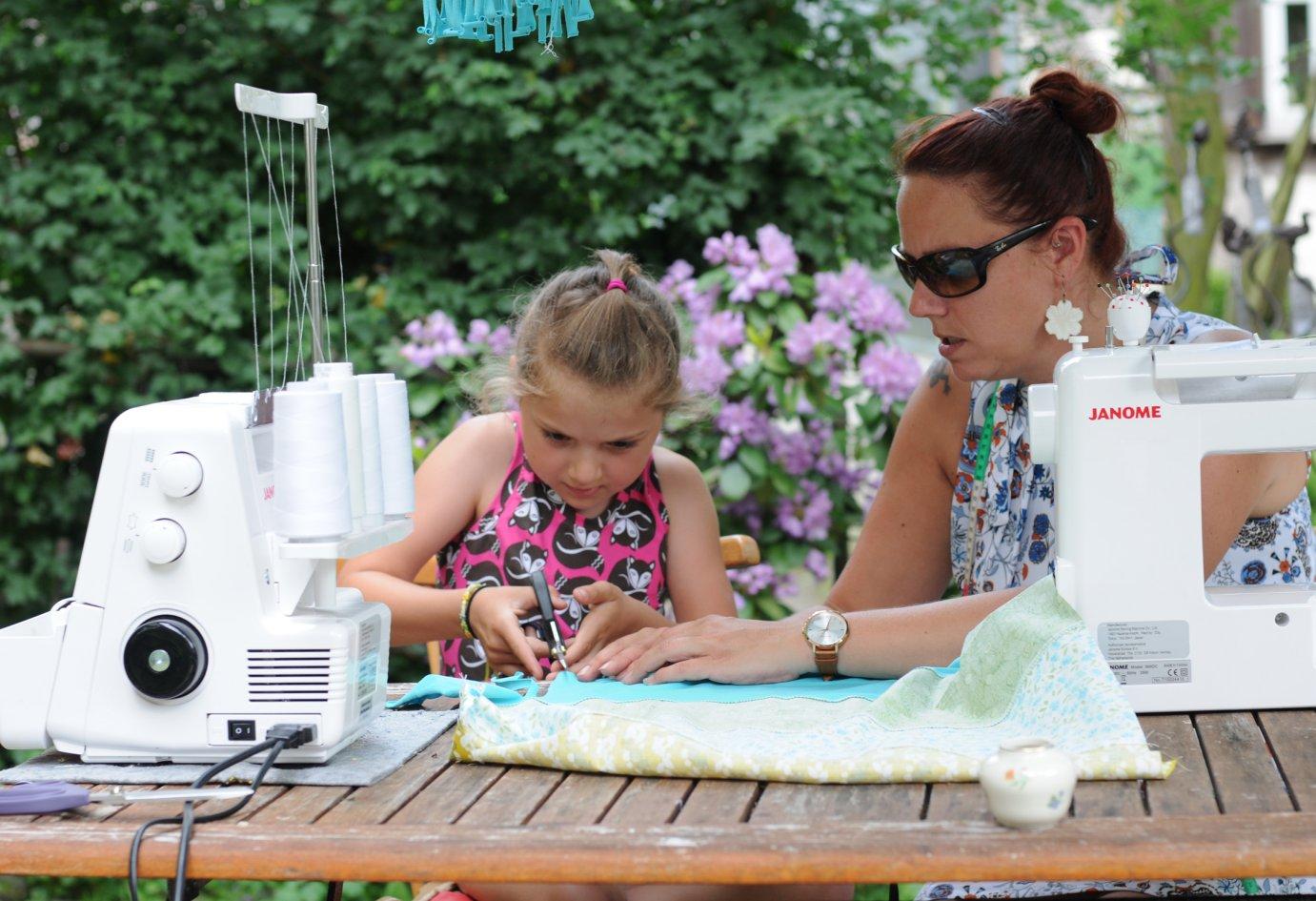 Näh-Workshop bei  Tag des Offenen Gartens